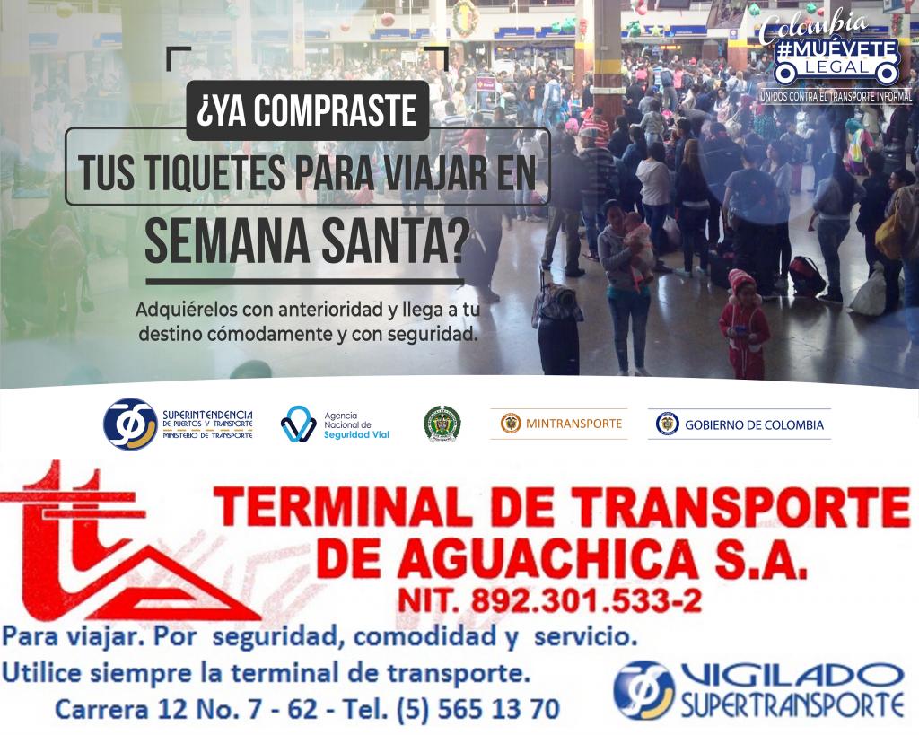 Madruguele a comprar su tiquete con anticipación desde la Terminal de Transporte de @Aguachica#MueveteLegal @Supertransporte #terminalAguachica